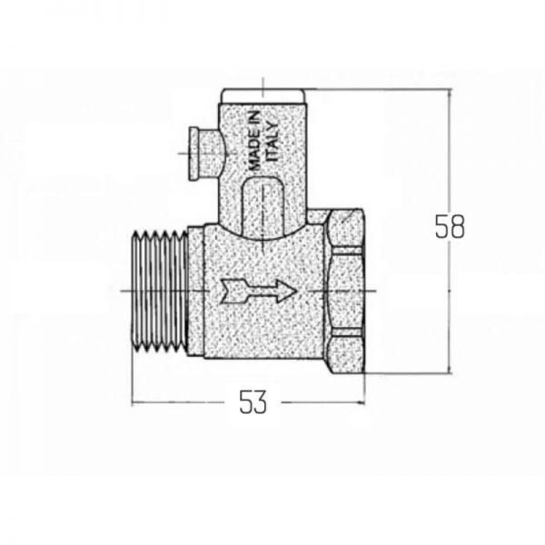 Подрывной клапан без ручки Icma 1/2″ №GS08