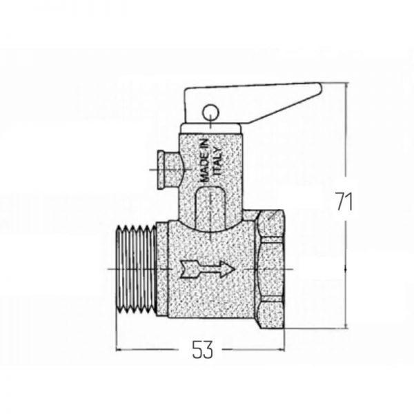 Подрывной клапан с ручкой Icma 3/4″ №GS09