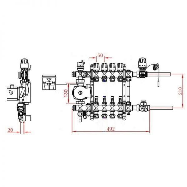 Коллекторная группа SD Forte 1″2 SFE0012