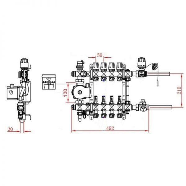 Коллекторная группа SD Forte 1″8 SFE0018