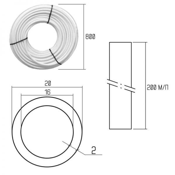 Труба из полиэтилена Icma PEX-A 20×2 (№Р198) 200 м