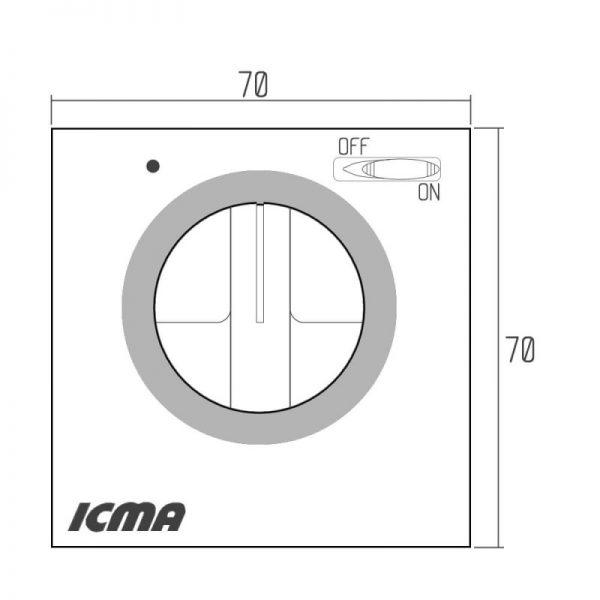 Комнатный термостат Icma №Р311 On-Off