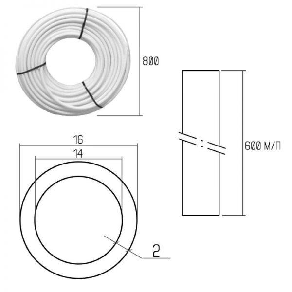 Труба из полиэтилена Icma PEX-A 16×2 (№Р198) 600 м