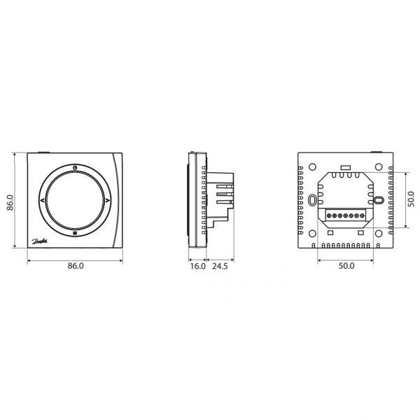 Термостат Danfoss BasicPlus2 WT-D 088U0622