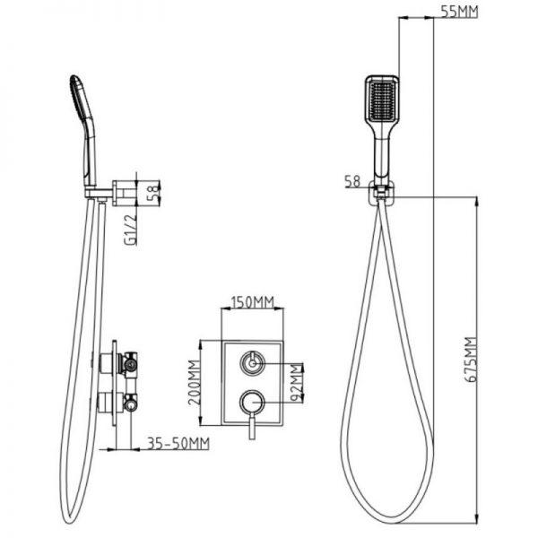 Душевая система Q-tap 1112 CRM