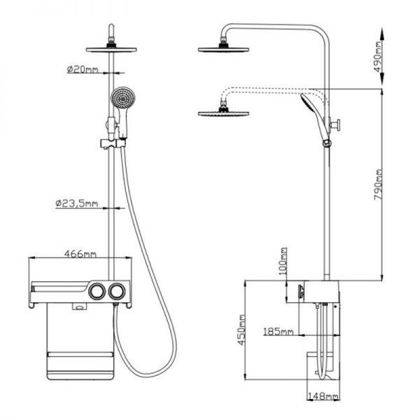 Душевая панель Q-tap 1115 WHI
