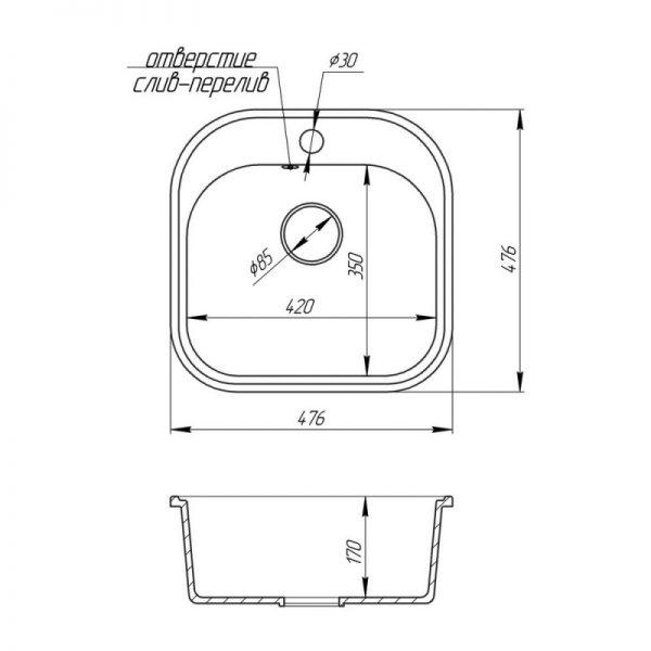 Кухонная мойка Fosto4849SGA 210