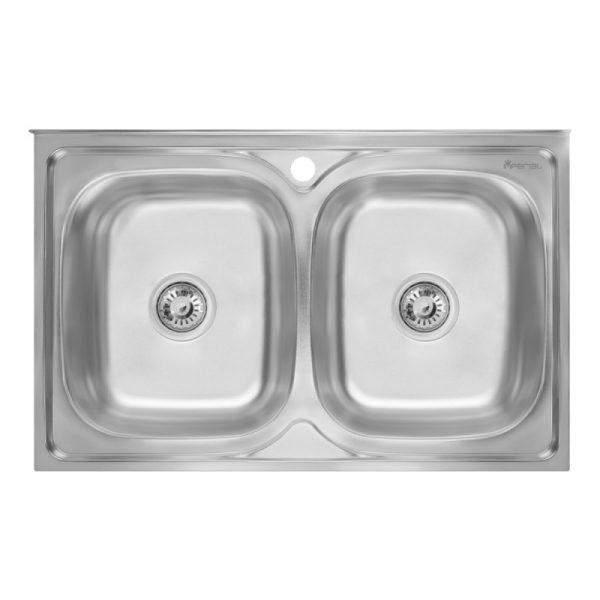 Кухонная мойка двойная Imperial 5080 Polish