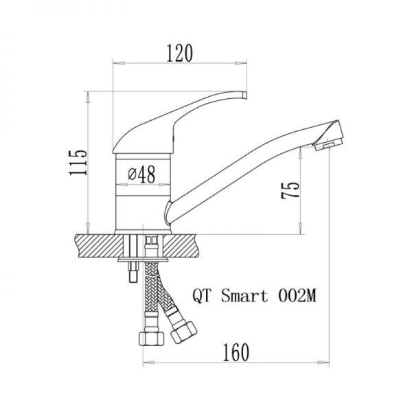 Смеситель для кухни Q-tap Smart CRM 002M