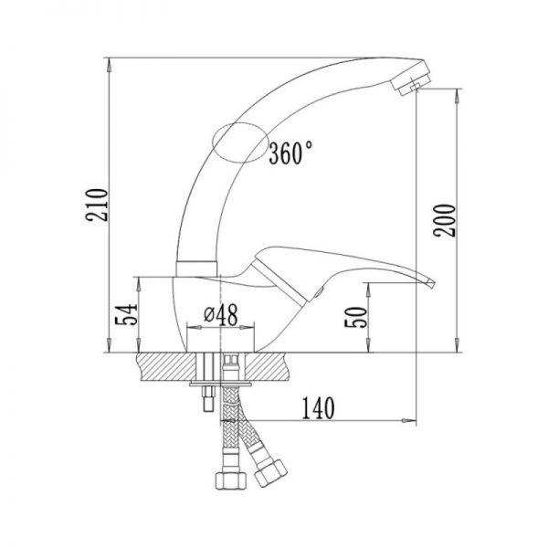 Смеситель для кухни Q-tap Smart CRM 007-1