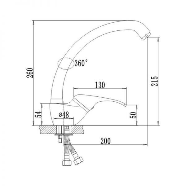 Смеситель для кухни Q-tap Smart CRM 007