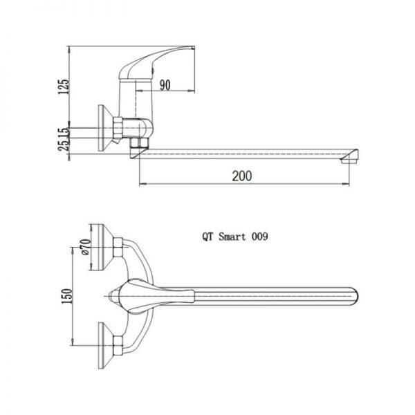 Смеситель для кухни Q-tap Smart СRM 009
