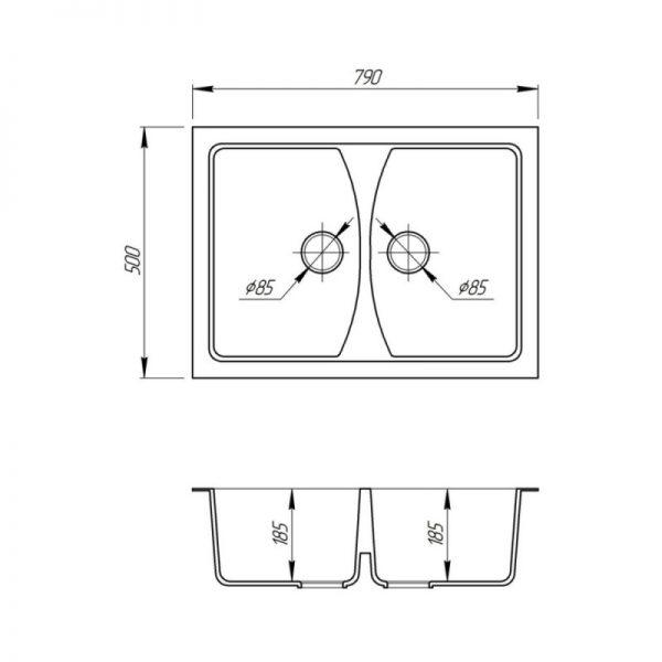 Кухонная мойка Fosto 7950 SGA 210
