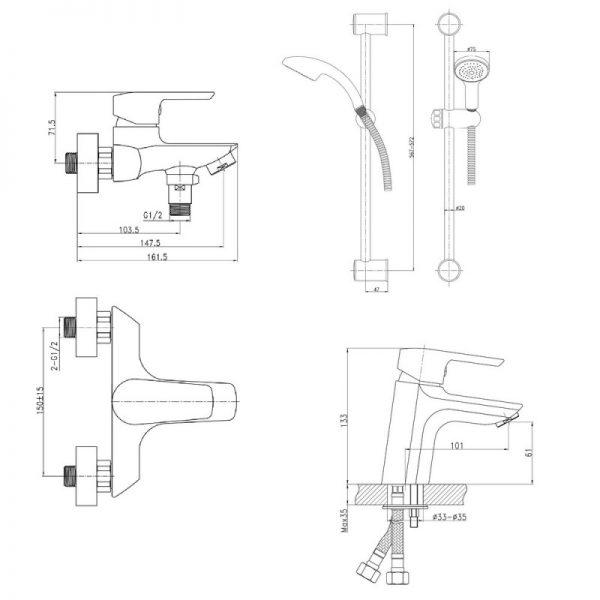 Душевой набор Q-tap Set CRM 35-311