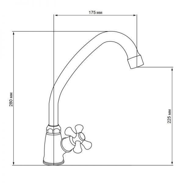 Однокран для кухни Q-tap DOMINOX CRM 269
