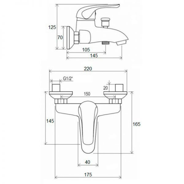 Душевой набор Q-tap Set CRM 40-111
