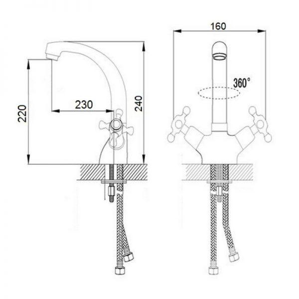 Смеситель для кухни Q-tap Liberty CRM 273F