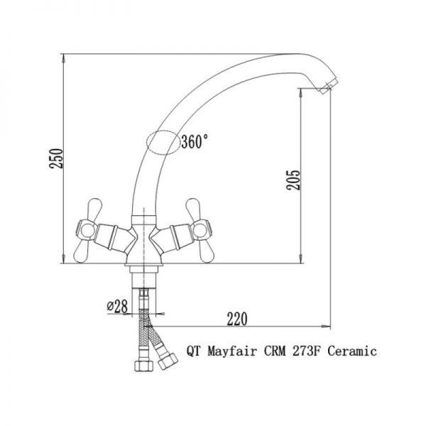 Смеситель для кухни Q-tap Mayfair CRM 273F