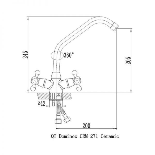 Смеситель для кухни Q-tap Dominox CRM 271K