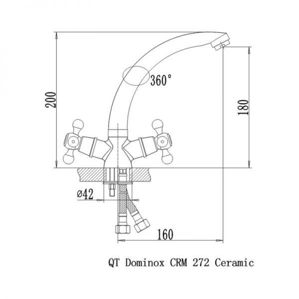 Смеситель для кухни Q-tap Dominox CRM 272