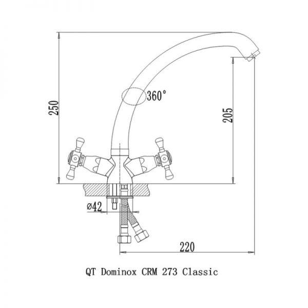 Смеситель для кухни Q-tap Dominox CRM 273