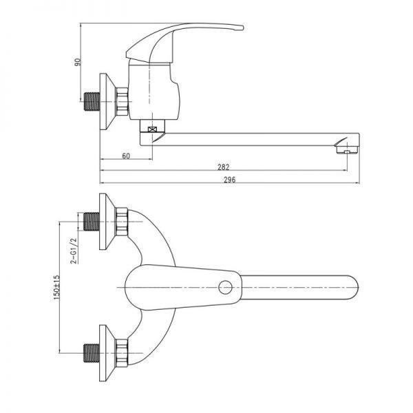 Смеситель для кухни Q-tap Mars СRM 009
