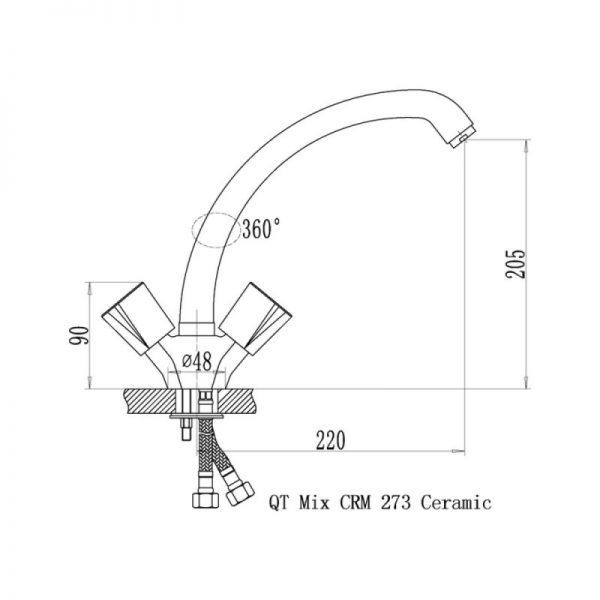 Смеситель для кухни Q-tap Mix CRM 273