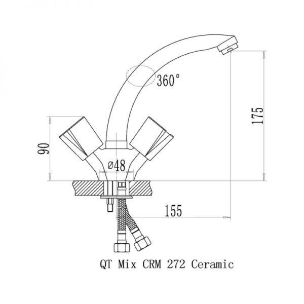Смеситель для кухни Q-tap Mix CRM 272