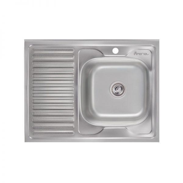Кухонная мойка Imperial 6080-R (0,6 мм) Satin
