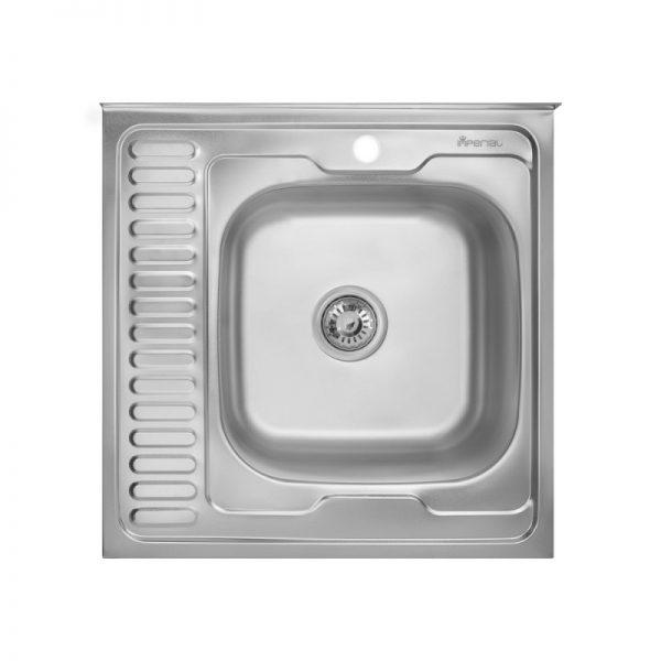 Кухонная мойка Imperial 6060-R (0,6 мм) Satin