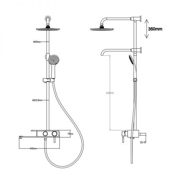 Душевая система Q-tap 1104 BLA