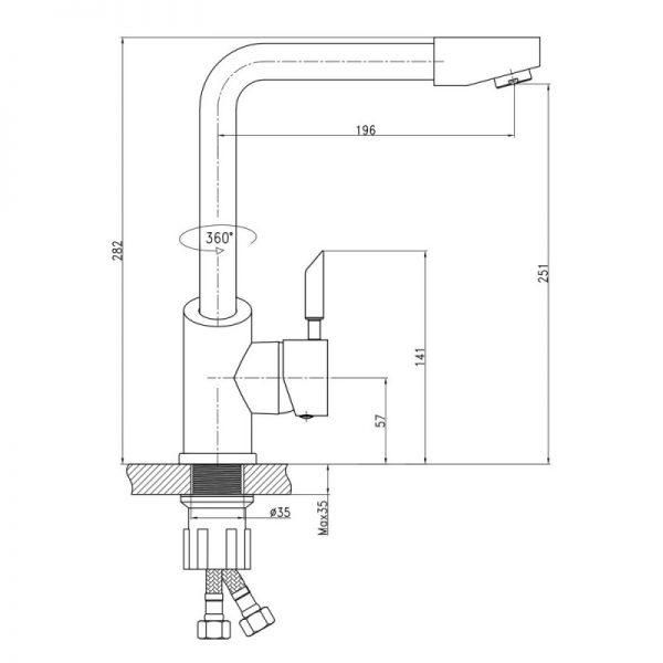 Смеситель для кухни Q-tap Elit СRM 007