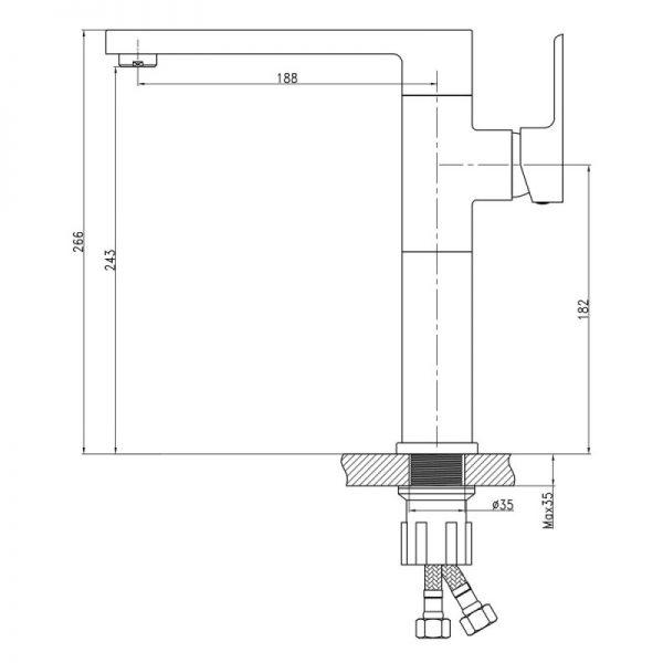Смеситель для кухни Q-tap Eco CRM 007F U