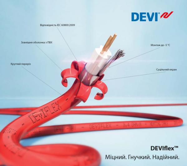 Нагревательный кабель DEVIflex 18T 52 м (DTIP-18)