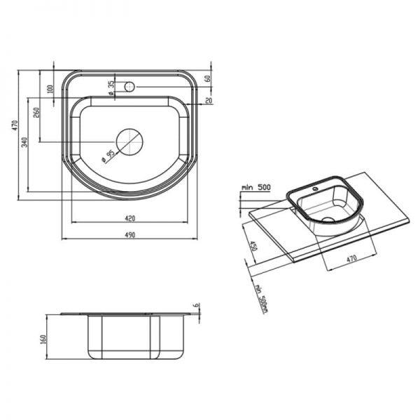 Кухонная мойка Imperial 4749 Micro Decor