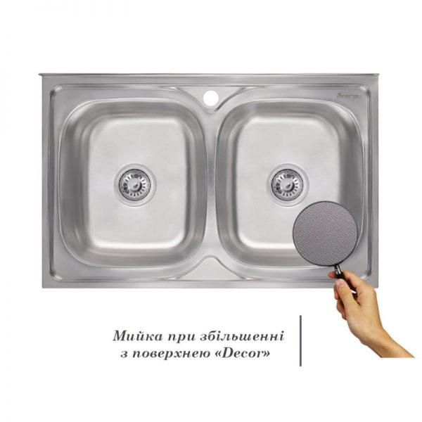 Кухонная мойка двойная Imperial 5080 Decor