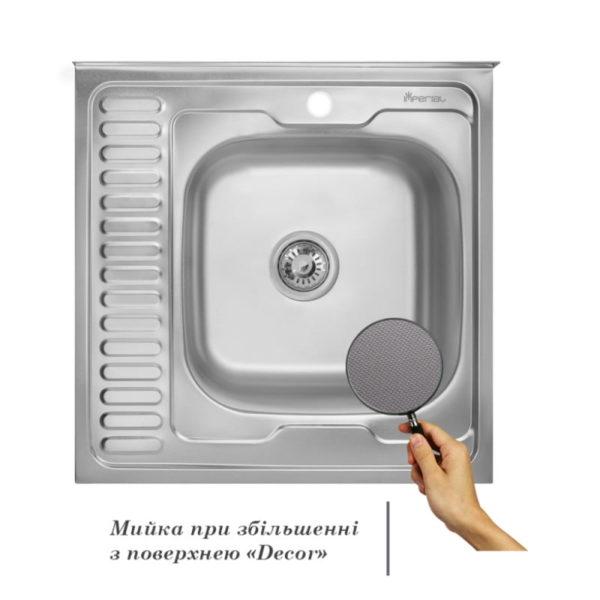 Кухонная мойка Imperial 6060-R (0,6 мм) Decor