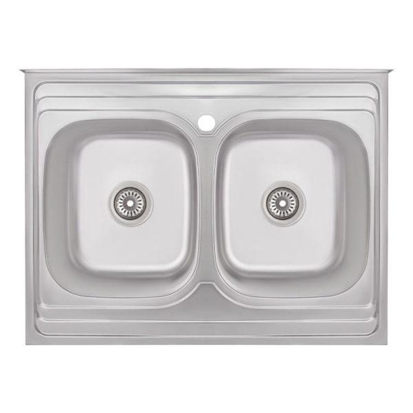 Кухонная мойка двойная Imperial 6080 Decor