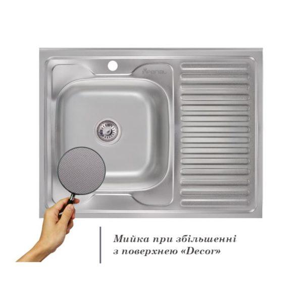 Кухонная мойка Imperial 6080-L (0,6 мм) Decor