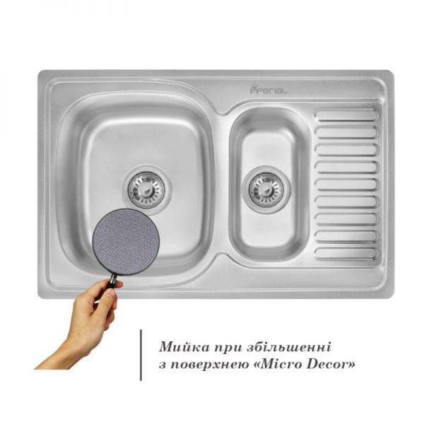 Кухонная мойка двойная Imperial 7850 Micro Decor