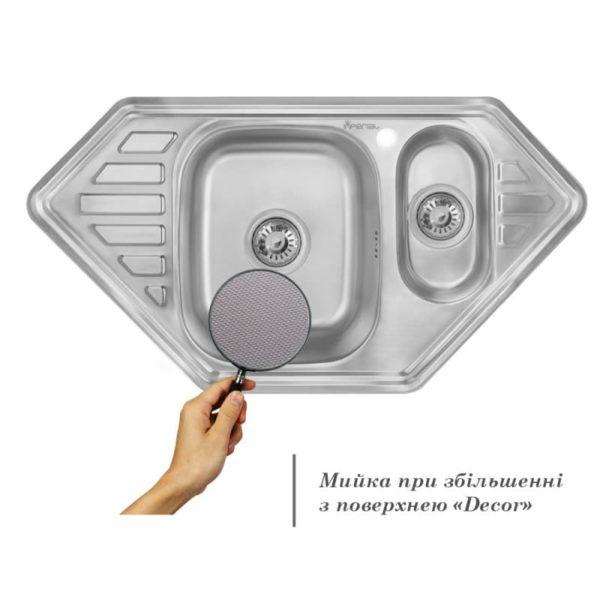 Кухонная мойка двойная Imperial 9550-С Decor