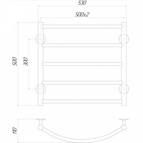 Полотенцесушитель Q-tap Classic (CRM) P5500х500 RE