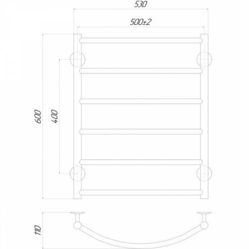 Полотенцесушитель Q-tap Classic (CRM) P6500х600 RE