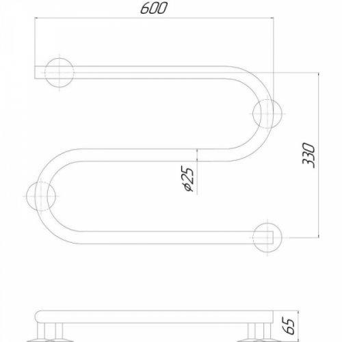 Полотенцесушитель Q-tap Snake (CRM)600х330 RE