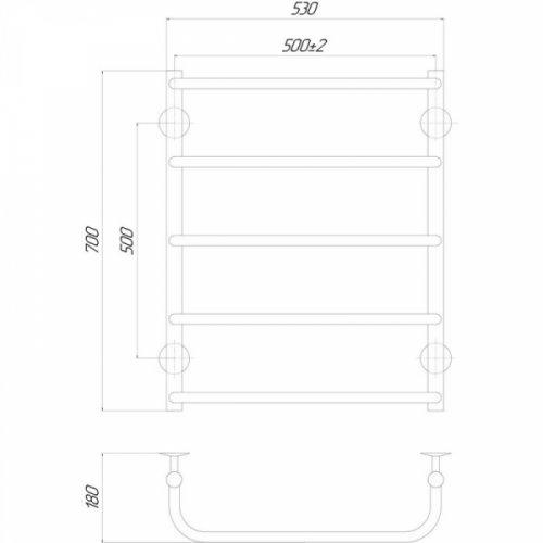 Полотенцесушитель Q-tap Standard (CRM) P5500х700 RE