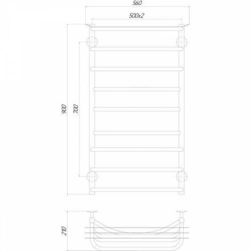 Полотенцесушитель Q-tap Yunost (CRM) P9500х900 RE