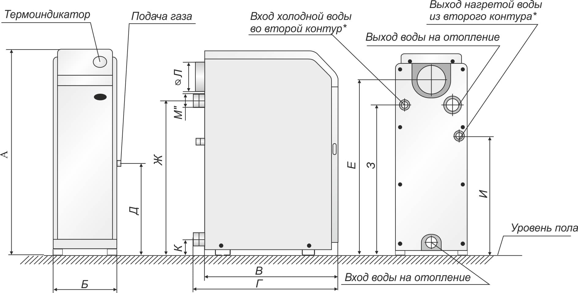 Газовый котел Житомир 3