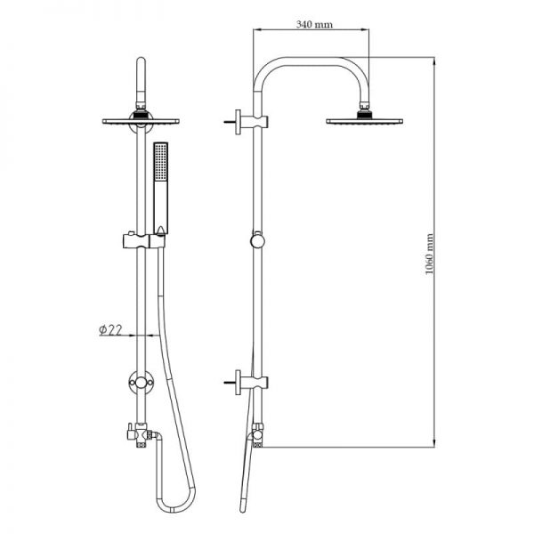 Душевая система Q-tap 1001 CRM