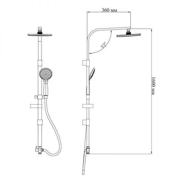 Душевая система Q-tap 1003 CRM