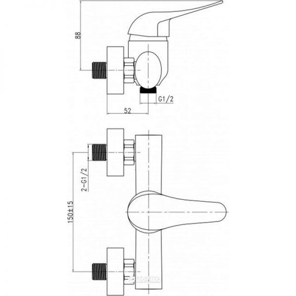 Смеситель для душа Q-tap Integra CRM 010
